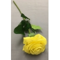 "Real Touch Rose Lemon Yellow  D:2.5""  L 17"""