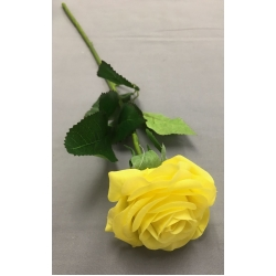 """Real Touch Rose Lemon Yellow  D:2.5""""  L 17"""""""