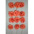 """Paper Rose Orange 1"""" (12)"""