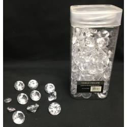 "Acrylic Diamonds 0.4""-0.8""  8.8 oz."
