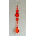 Acrylic Drop String Red 12""