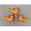 "Bird with clip orange 3.5"" (3)"
