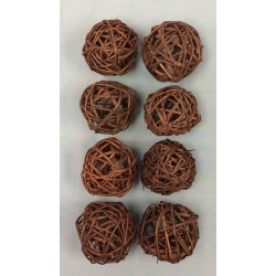 "Vine Ball 2.5"" Brown (8)"