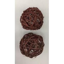 "Vine Ball 4"" Brown (2)"