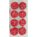 "Vine Ball 2.5"" Red (8)"