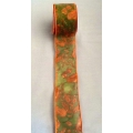 "2.5"" Fall Ribbon w/wired 10 yards"