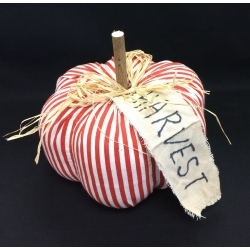 Harvest Pumpkin Red stripe 8""