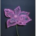 """Sparkle Flower w/ Stem Purple 8.5"""""""