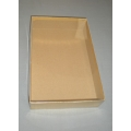 "Paper Box Gold w/ Clear Plastic Cover 11""x7""x2"""