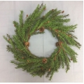 Pine/Cones Wreath 24""