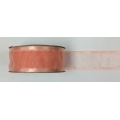 "Organza Ribbon Peach w/Satin Edge 1.5"" 10y."