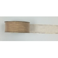 "Organza Ribbon Gold/Striped 1.5"" 10y"
