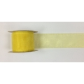 "Organza Ribbon Lt Yellow  2"" 15y"