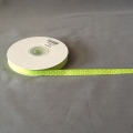 "Grosgrain Lime/White Dots 3/8"" 25y"