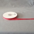 "Grosgrain Red/White Dots 3/8"" 25y"