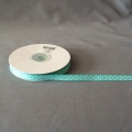 "Grosgrain Turquoise/White Dots 3/8"" 25y"