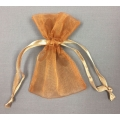 "Organza Bags Brown (12) 3"" x 4"""