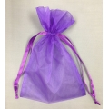 "Organza Bags Purple (12) 6"" x 9"""