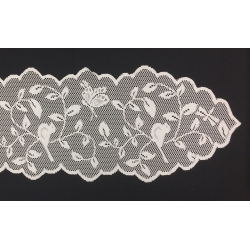 "Bird & Branch Lace Runner Ivory 13"" x 96"""