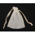 "Natural Muslin Bags w/Ivory Serged Edge (12) 3"" x 4"""