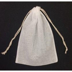 "Natural Muslin Bags w/cotton Drawstring (12) 5"" x 7"""